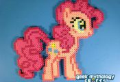 Pinkie Pie - My Little Pony Perler Bead Sprite Figure