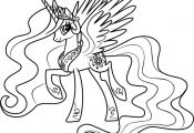 Princess Celestia Coloring Page Free My Little Pony Friendship Is Magic Coloring...