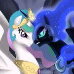 Princess Celestia Vs. Nightmare moon....love my little pony :)