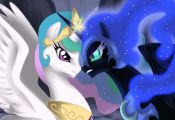Princess Celestia Vs. Nightmare moon....love my little pony :)