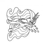 Print A Princess Celestia my little pony coloring pages