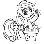 Print my little pony applejack stand coloring pages  Applejack, Coloring, Pages,...