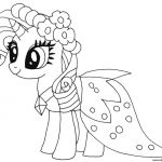 Print princess rarity my little pony coloring pages