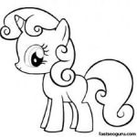 Printable My Little Pony Friendship Is Magic Sweetie Belle coloring pages - Prin...