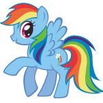 """Rainbow Dash My Little Pony Iron On Transfer 5""""x5.5"""" for LIGHT Colored Fabric 