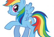 "Rainbow Dash My Little Pony Iron On Transfer 5""x5.5"" for LIGHT Colored Fabric 