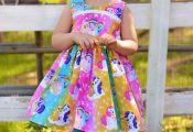 Rainbow My Little Pony inspired Twirl Strip Custom Dress  Easter Dress, Tea Part...