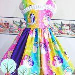 Rainbow My Little Pony inspired Twirl by RuthSewingRoomDesign