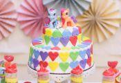 Rainbow Themed My Little Pony Party with Such Cute Ideas via Kara's Party Ideas ...