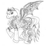 Steampunk My Little Pony coloring page