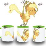 TAZA MY LITTLE PONY APPLEJACK CON LAZO VARIOS COLORES mug tazza tasse coupe poni...