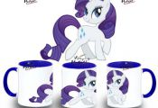 TAZA MY LITTLE PONY RARITY SOLA varios colores mug tazza tasse coupe niño niña...