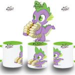 TAZA MY LITTLE PONY SPIKE CON CARTAS varios colores mug tazza tasse coupe niño ...