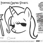 The Trixie pumpkin carving stencil is included in the My Little Pony Friendship ...