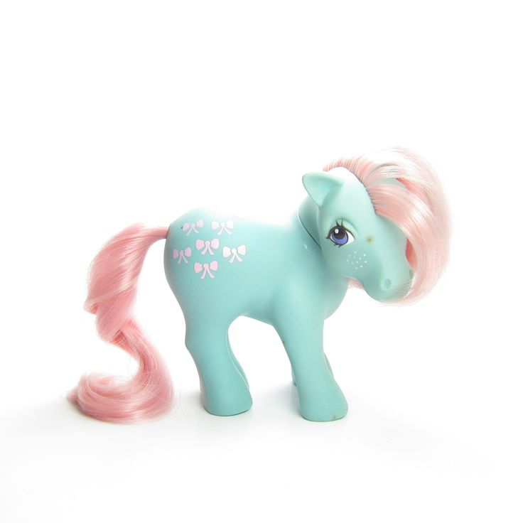 This-vintage-G1-My-Little-Pony-is-Bow-Tie-she39s-light-blue-with-pink-hair-a This vintage G1 My Little Pony is Bow Tie, she's light blue with pink hair a... Cartoon