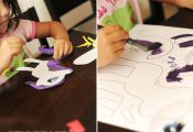 This website has tons of free printables for little ones to paint and assemble! ...