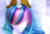 Unicorn Wig, Princess Celestia, MLP Costume My Little Pony , my little pony cosp...