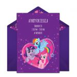 We just love this free My Little Pony birthday party invitation with a colorful ...