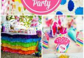 What an incredible My Little Pony girl birthday party in all the colors of the r...