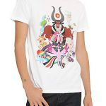 White T-shirt from My Little Pony with colorful characters design on front.