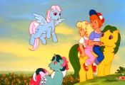 Wind Whistler, Fizzy, Magic Star, Danny, Molly g1 my little pony the movie