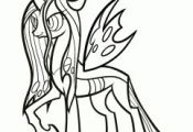 how to draw queen chrysalis, my little pony step 8