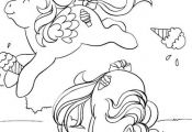 my little pony G1 coloring pages | little pony