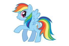 my little pony Rainbow Dash. Coloring doesn't really speak to her type, but ...