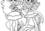my little pony apple and pinkie pie coloring pages