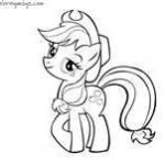 my little pony coloring page (Apple Jack)