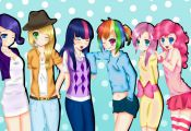 my little pony humans | My Little Pony Human Group by xKittyblue on deviantART