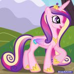 pictures of my little ponys | How to Draw Princess Cadence, My Little Pony, Step...
