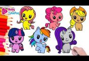 (1) My Little Pony Cutie Mark Crew Coloring Book Page Mane 6 , MLP - YouTube