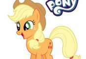 Applejack My Little Pony Coloring Page