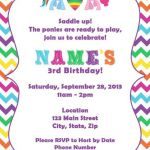 Colorful My Little Pony Invite