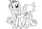 Coloriage My Little Pony Princesse Cadance