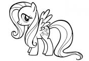 Comely My Little Pony Coloring Book Colouring Sheets Fluttershy Friendship