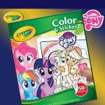 Crayola My Little Pony 32 Page Colour & Sticker Book - Scenes & 50+ Stickers