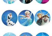 Custom Frozen Printable labels - Sheet of 9- 2.5 inch Round