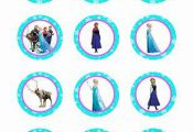 Disney Frozen Printable Cupcake Toppers