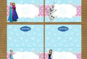Disney Frozen Printable Food Tents by RayningGrace on Etsy, $4.00