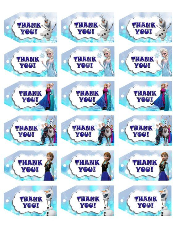 Disney-Frozen-Printable-Thank-You-tag Disney Frozen Printable Thank You tag Cartoon