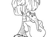 Dr Seuss Coloring Pages Horton the Elephant