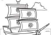 FREE Printable Mayflower Coloring Page for Kids! Get this free Thanksgiving colo...
