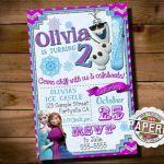 FROZEN PRINTABLE INVITATION, Custom Frozen Invitation For Girls Birthday Party, ...