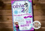 FROZEN PRINTABLE INVITATION, Custom Frozen Invitation For Girls Birthday Party, ...
