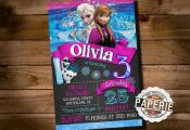 FROZEN PRINTABLE INVITATION, Custom Frozen Invitation, Girls Birthday Party, Fro...