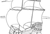 Free Pilgrims Mayflower coloring pages