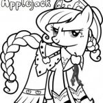 Free Print out Applejack  My Little Pony Friendship is Magic Coloring in Pages f...