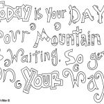 Free Printable Quote Coloring Pages For Adults: Dr Seuss Coloring Pages Quotes  ...